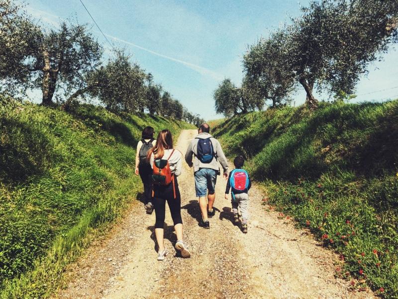 Passeggiata con bambino