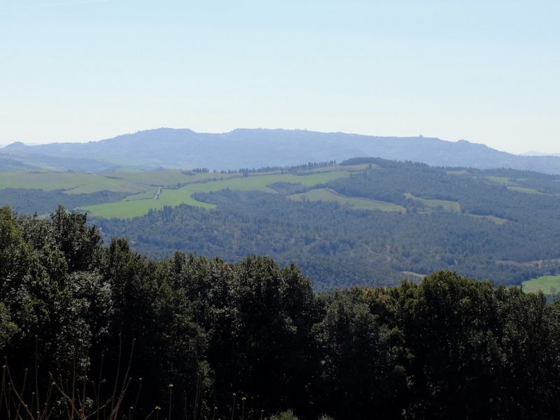La vista verso Volterra
