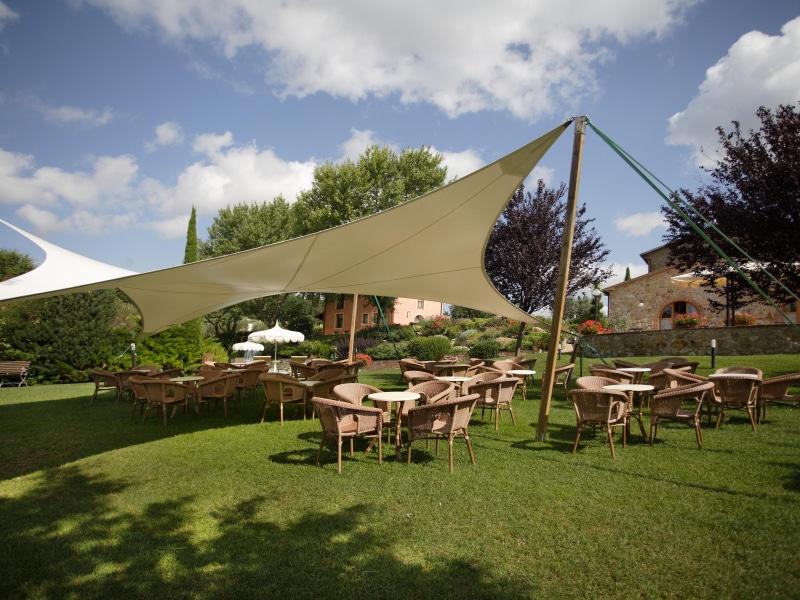 Il parco della Tenuta Il Quadrifoglio a Gambassi Terme