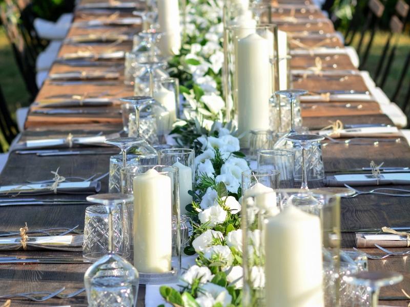 Tenuta Sant'Ilario - Le decorazioni dei tavoli